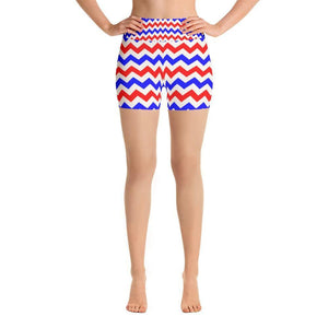 """Electric Flag"" Yoga Shorts - And Above All...YOGA"
