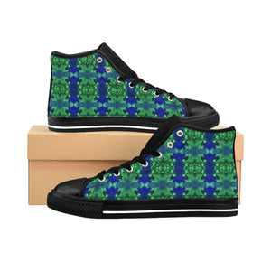 """Enter the Wormhole"" Deluxe Women's High-top Sneakers - And Above All...YOGA"