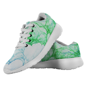 """Eruption in Green and Blue"" Running Shoes - And Above All...YOGA"