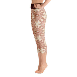 """Fall Garden Fantasy"" Deluxe Made to Order Capri Yoga Pants - And Above All...YOGA"