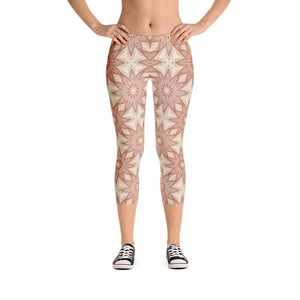"""Fall Garden Fantasy"" Standard Made to Order Capri Yoga Pants - And Above All...YOGA"