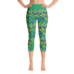 """Ferns"" Capri Yoga Pants - And Above All...YOGA"