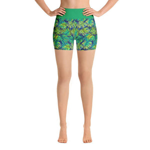 """Ferns"" Yoga Shorts - And Above All...YOGA"