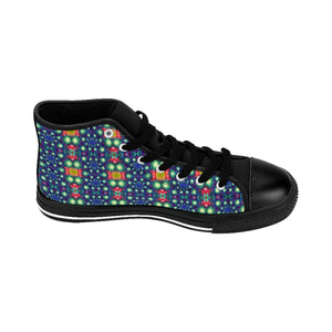 """Fireworks"" Deluxe Women's High-top Sneakers - And Above All...YOGA"