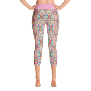 """Floral Riot"" Deluxe, Made to Order Capri Yoga Pants - And Above All...YOGA"
