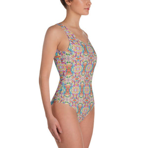 """Floral Riot"" Made to Order, One-Piece Swimsuit - And Above All...YOGA"