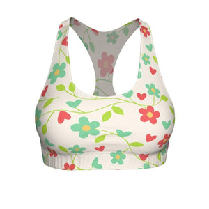 """Fresh Flowers"" Cut & Sew Sports Bra - And Above All...YOGA"