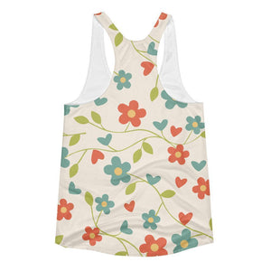 """Fresh Flowers"" Women's Racerback Tank Top - And Above All...YOGA"