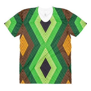 """Geometric Earth"" Women's Crew Neck T-Shirt - And Above All...YOGA"