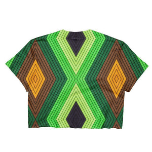 """Geometric Earth"" Women's Crop Top - And Above All...YOGA"