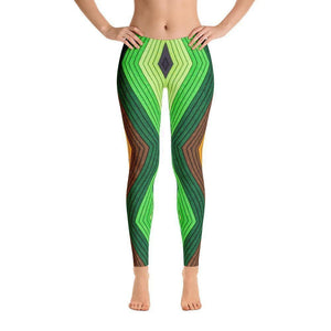 """Geometric Earth"" Yoga Pants - And Above All...YOGA"