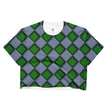 """Green Harlequin"" Women's Crop Top - And Above All...YOGA"