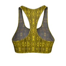 """Hammered Gold"" Cut & Sew Sports Bra - And Above All...YOGA"