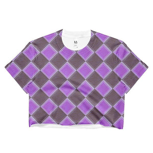 """Harlequin"" Ladies Crop Top - And Above All...YOGA"