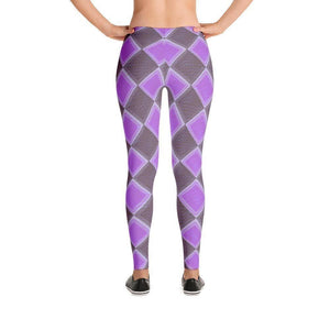 """Harlequin Purple"" Yoga Pants - And Above All...YOGA"
