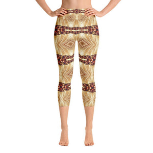 """Heart of Gold"" Capri Yoga Pants - And Above All...YOGA"
