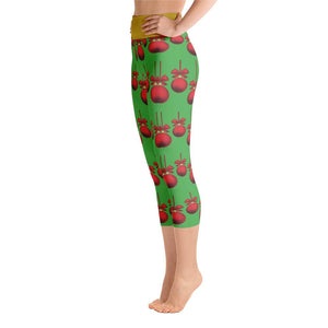 """Holiday Ornaments"" Deluxe, Made to Order Capri Yoga Pants - And Above All...YOGA"