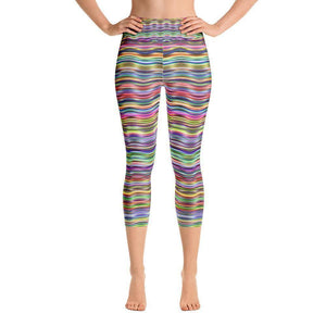 """Horizontal Colors"" Capri Yoga Pants - And Above All...YOGA"