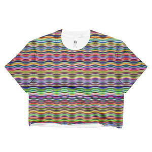 """Horizontal Colors"" Women's Crop Top - And Above All...YOGA"