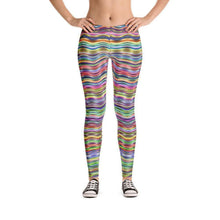 """Horizontal Colors"" Yoga Pants - And Above All...YOGA"
