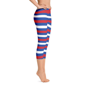 """Horizontal Stripes"" Capri Yoga Pants - And Above All...YOGA"