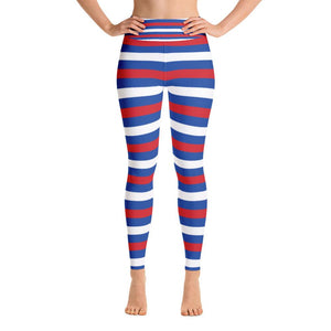 """Horizontal Stripes"" Deluxe Yoga Pants - And Above All...YOGA"