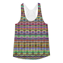 """Horizontal"" Women's Racerback Tank Top - And Above All...YOGA"