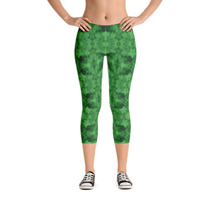 """How Green Was My Valley"" Deluxe Made to Order Capri Yoga Pants-fitness wear, yoga pants, capris, $30-$50-And Above All...YOGA"