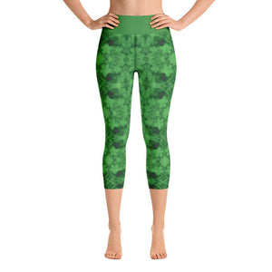 """How Green Was My Valley"" Deluxe Made To Order Carpi Yoga Pants-fitness wear, yoga pants, capris, $30-$50-And Above All...YOGA"