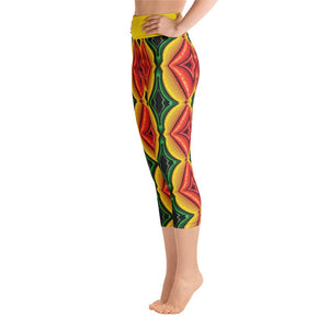 """Inside Frankencorn"" Deluxe Made to Order Capri Yoga Pants - And Above All...YOGA"