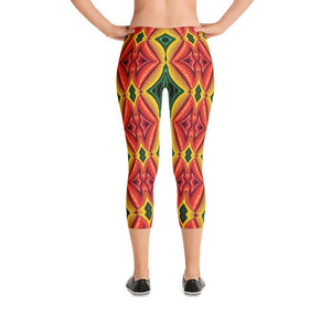 """Inside Frankencorn"" Standard Made to Order Capri Yoga Pants - And Above All...YOGA"