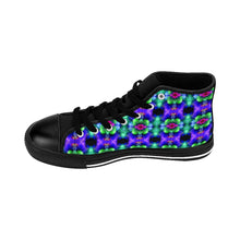 """Kaleidoscopic"" Deluxe Women's High-top Sneakers - And Above All...YOGA"