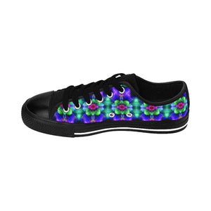 """Kaleidoscopic"" Deluxe Women's Sneakers - And Above All...YOGA"