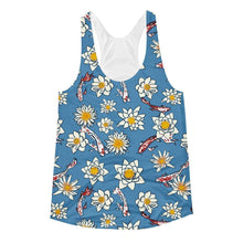 """Koi Pond"" Women's Racerback Tank Top - And Above All...YOGA"