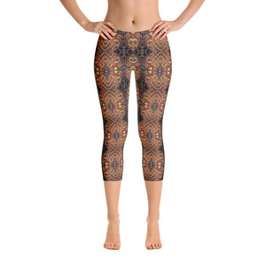 """Listening to One's Muse"" Made to Order Standard Capri Yoga Pants - And Above All...YOGA"