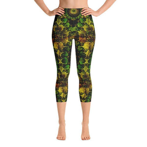 """Mandala"" Capri Cut Yoga Pants - And Above All...YOGA"