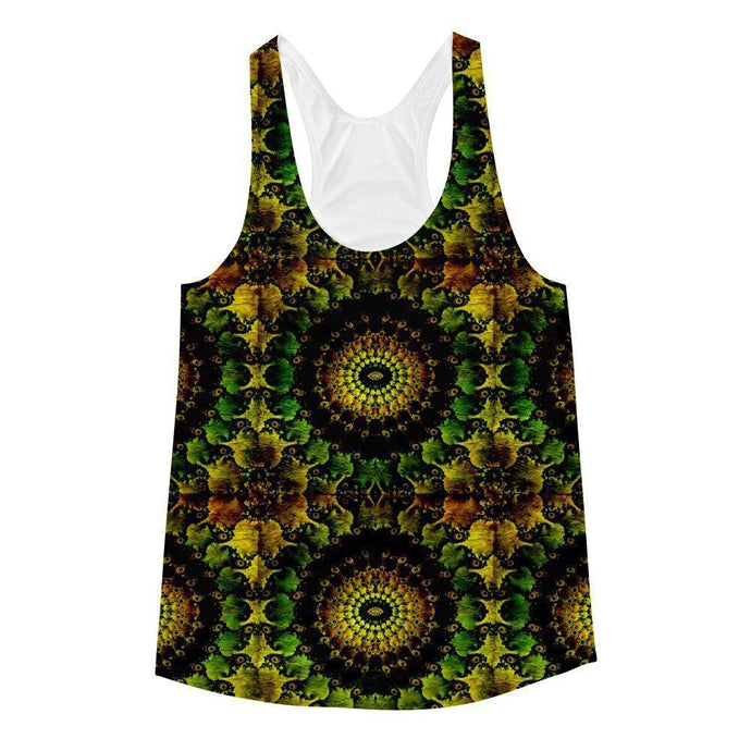 """Mandela"" Women's Racerback Tank Top - And Above All...YOGA"