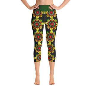 """Meditation Gates"" Deluxe Capri Yoga Pants for Women - And Above All...YOGA"