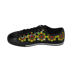 """Meditation Gates"" Deluxe Women's Sneakers - And Above All...YOGA"