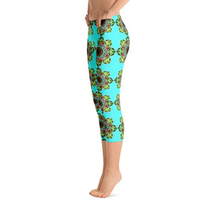 """Meditation Glow"" Standard Capri Yoga Pants - And Above All...YOGA"