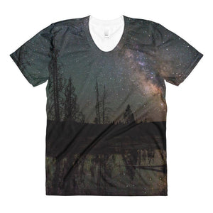 """Milky Way"" Women's Crew Neck T-Shirt - And Above All...YOGA"
