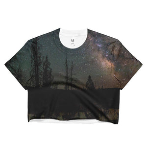 """Milky Way"" Women's Crop Top - And Above All...YOGA"
