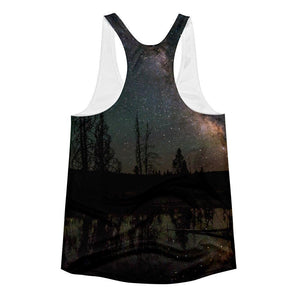 """Milky Way"" Women's Racerback Tank Top - And Above All...YOGA"