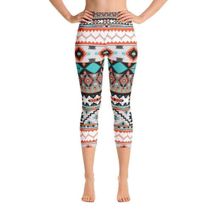 """Navajo Rug"" Capri Yoga Pants - And Above All...YOGA"