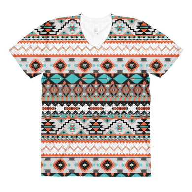 """Navajo Rug"" Women's Crew Neck T-Shirt - And Above All...YOGA"