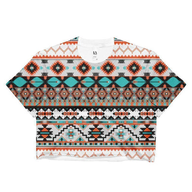 """Navajo Rug"" Women's Crop Top - And Above All...YOGA"