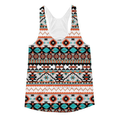 """Navajo Rug"" Women's Racerback Tank Top - And Above All...YOGA"