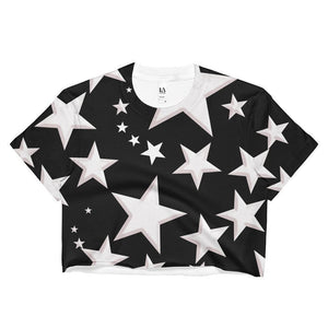 """Night Sky"" Ladies Crop Top - And Above All...YOGA"