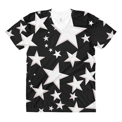 """Night Sky"" Women's Crew Neck T-Shirt - And Above All...YOGA"