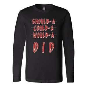 """No Excuses"" Canvas Long Sleeve T-Shirt - And Above All...YOGA"